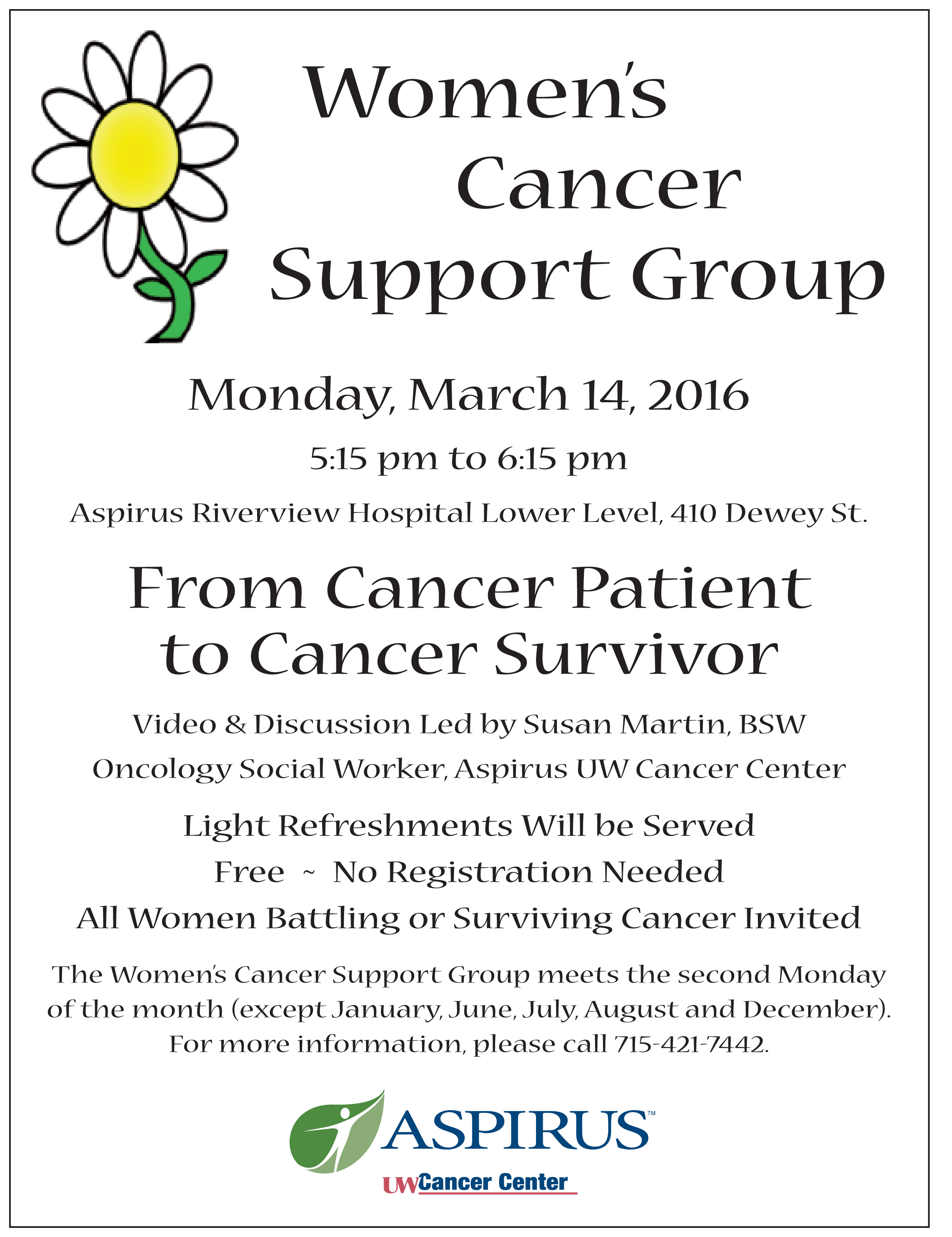 Support group for cancer