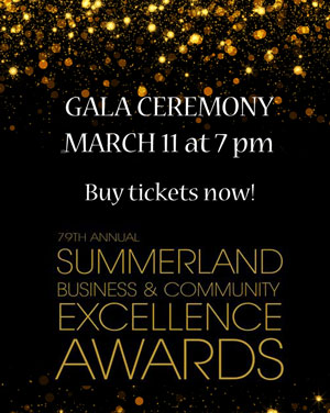 Join us for the Summerland Business Awards Ceremony on March 11
