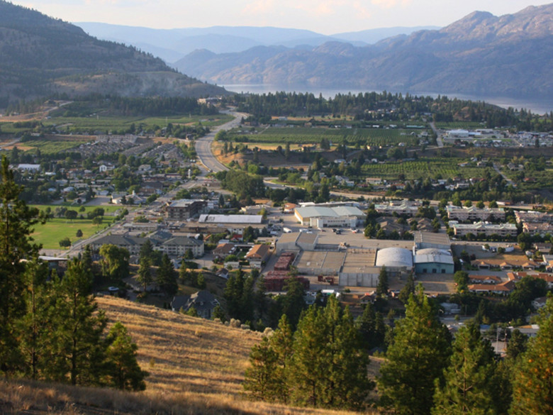 A beautiful view in Summerland – a great place to invest in and relocate to.