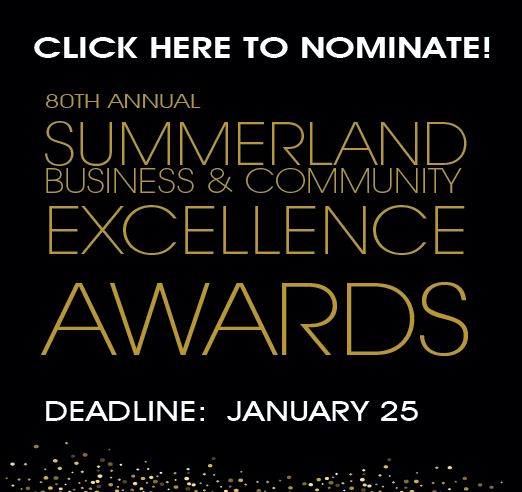 Nominations summerland business and community excellence awards