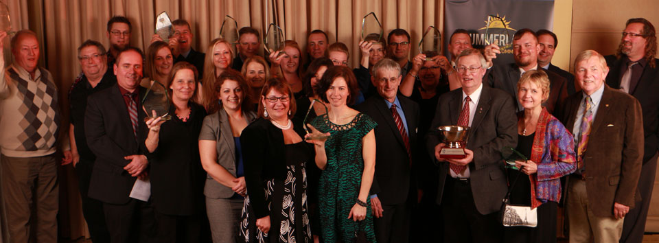 Summerland Business and Community Award recipients celebrate their win.