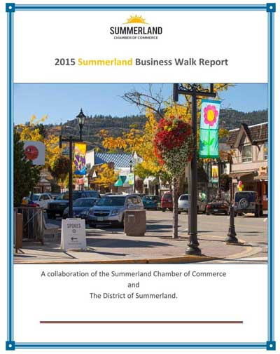 Report on how business in Summerland BC is doing in 2015.