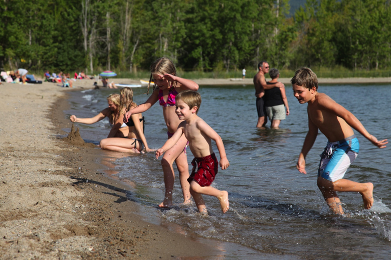 The beaches of Summerland provide an escape from work or school for people of all ages.