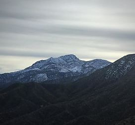 Snow covered Four Peaks