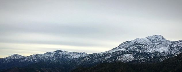 Winter view of Four Peaks