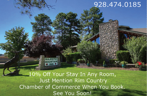 Majestic Mountain Inn Rim country Chamber promo