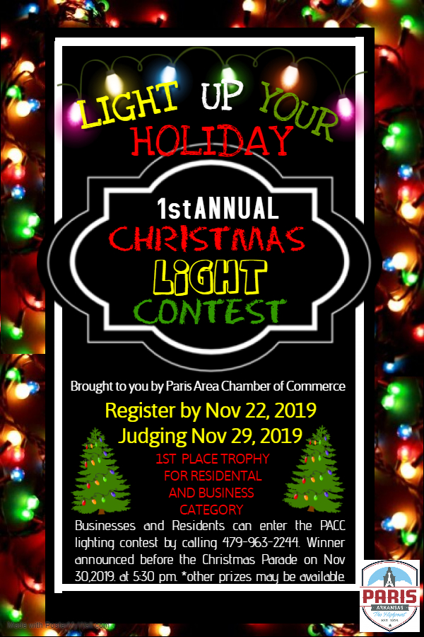 1st Annual Christmas Lighting Contest- Business & Residential