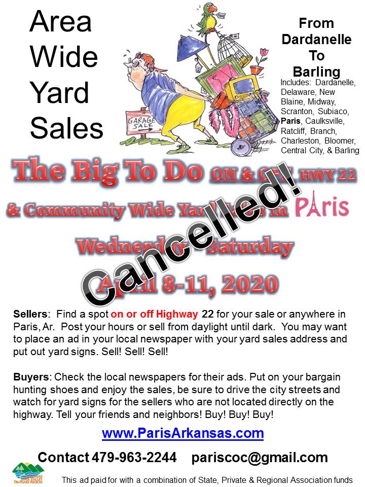 Hope to host another in the FALL of 2020- YARD SALES!