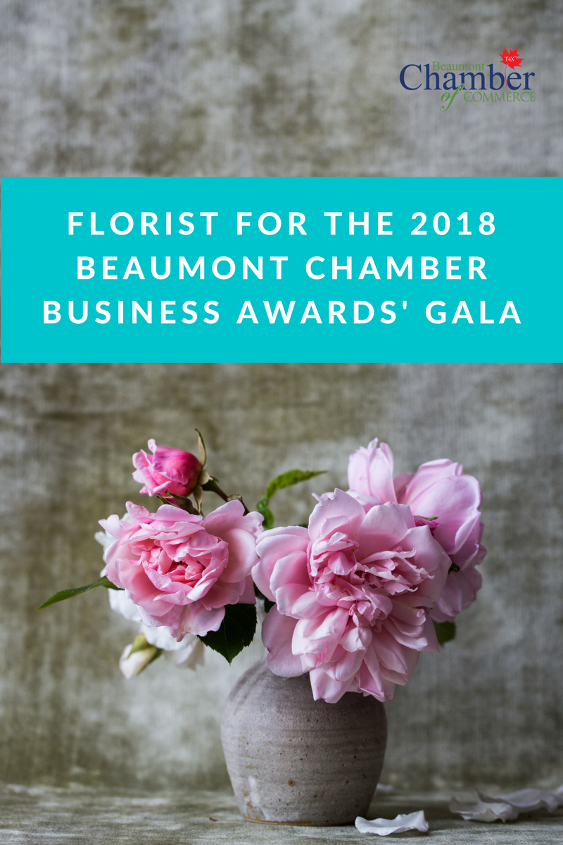 Request for proposals for a florist for the Chamber 2018 Gala event.
