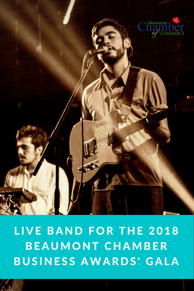 Request for proposals for a live band for the 2018 Chamber Gala event.