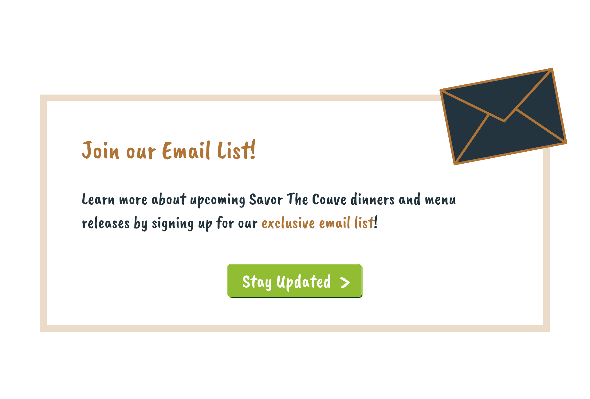 email list button CTA