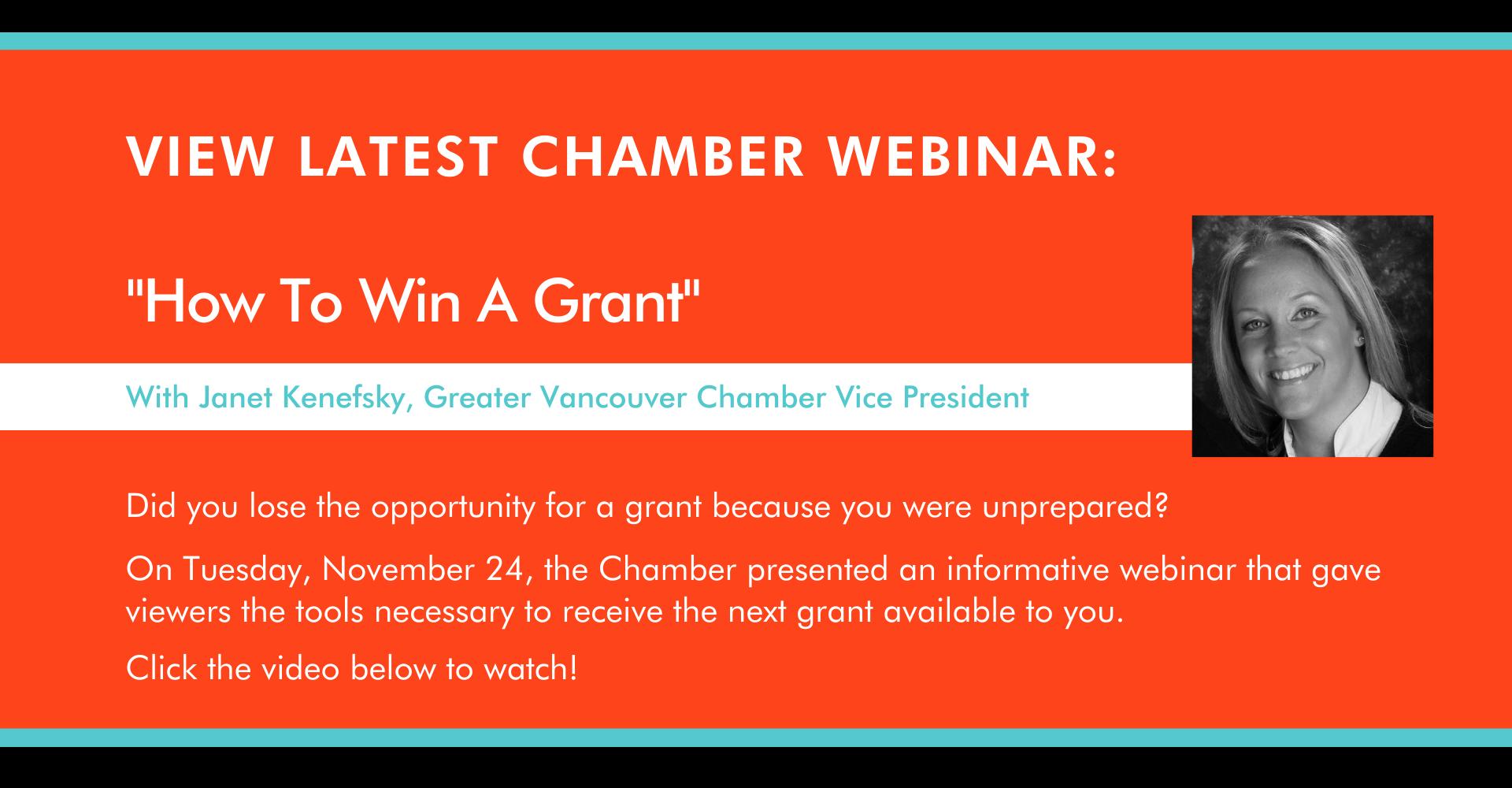 latest chamber webinar view video
