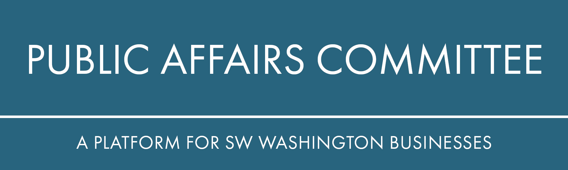Public affairs committee platform for sw washington businesses business community small large economic development
