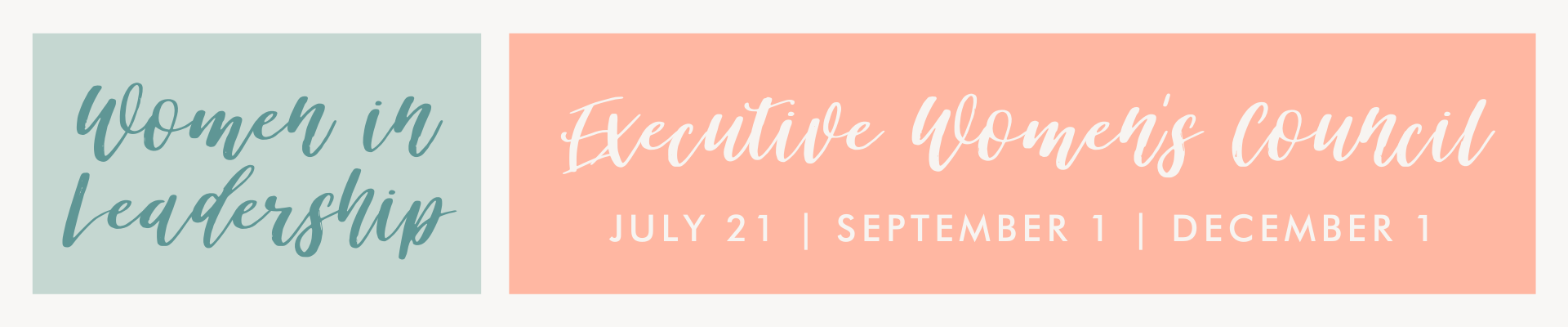 executive womens council july september december women in leadership lecture series exclusive access