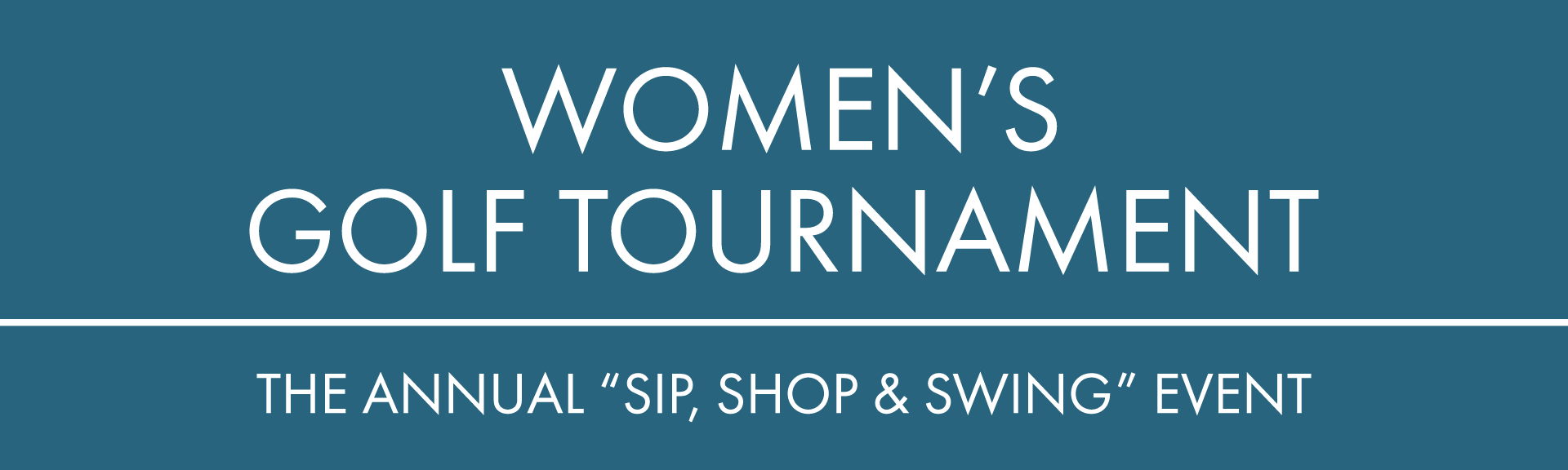 women's golf tournament program page header