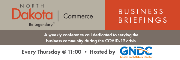 COVID-19 North Dakota Business Briefing Conference Call