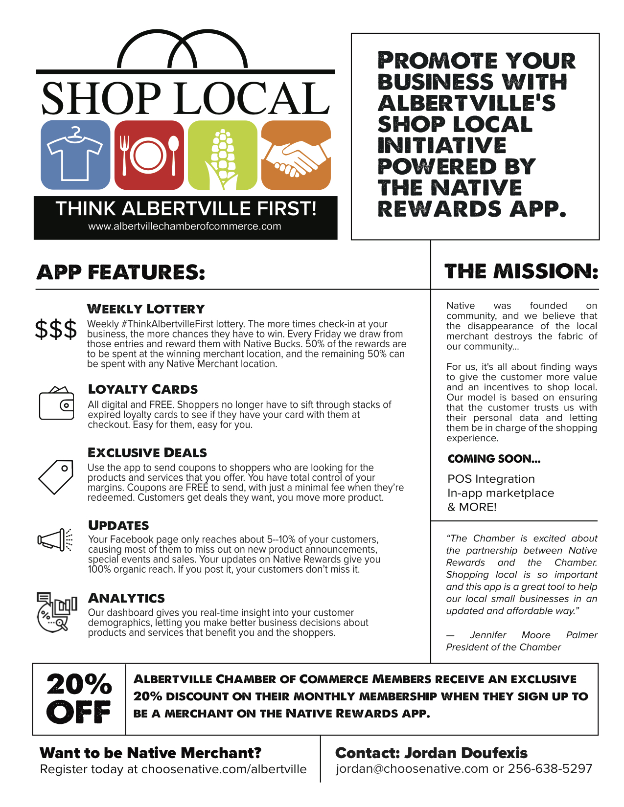 THINK Albertville First - Partners with Native Rewardsl