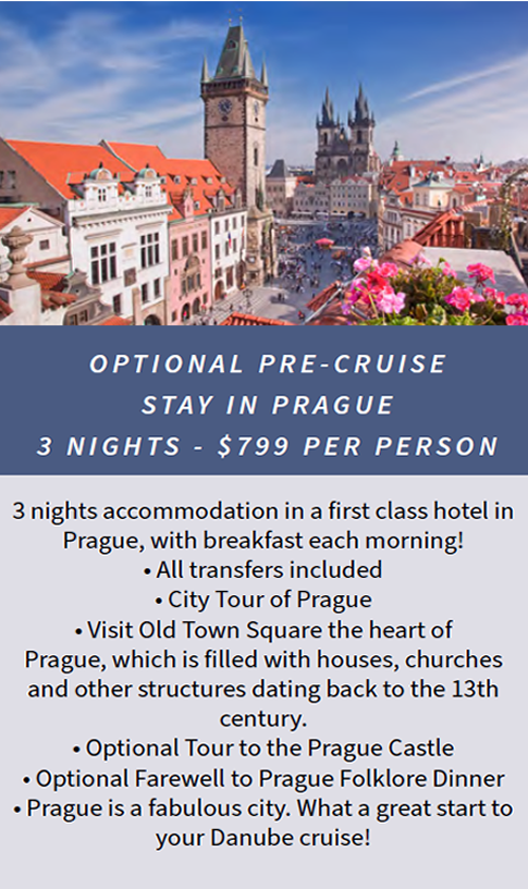 OPTIONAL PRE-CRUISE STAY IN PRAGUE