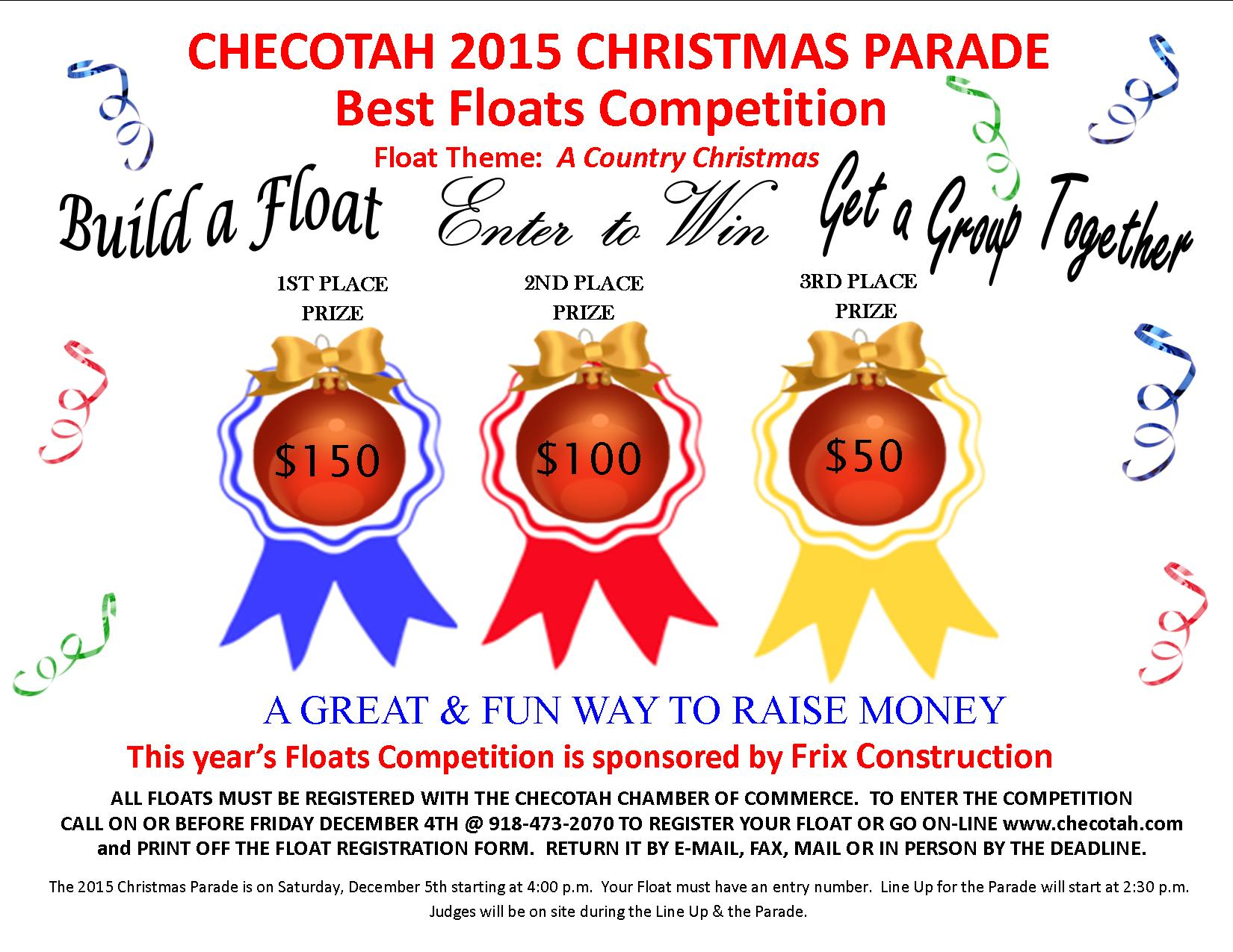 2015 Christmas Floats Competition Flyer