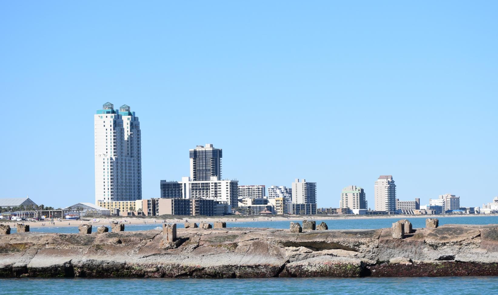 Shoreline with beach and ocean