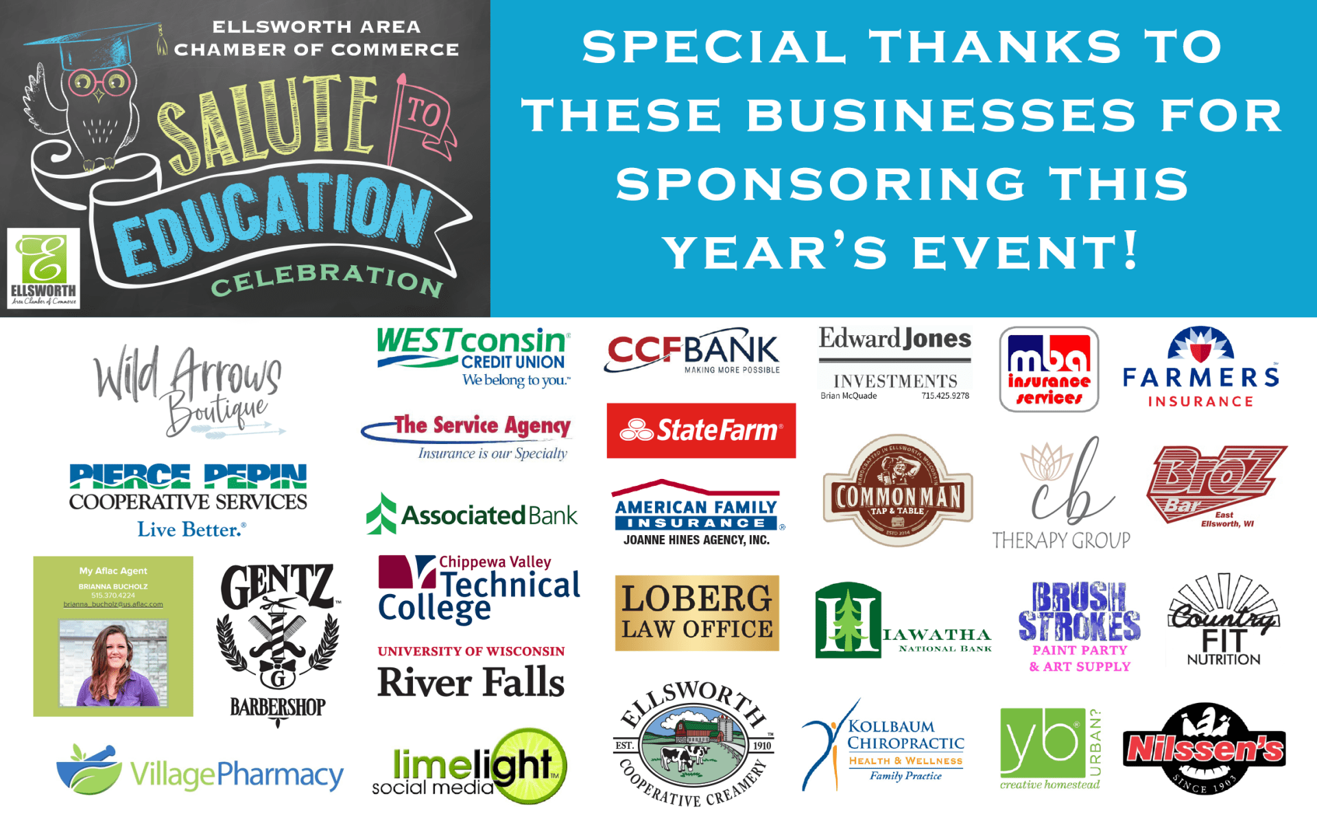 Thank You, Salute to Education Sponsors!
