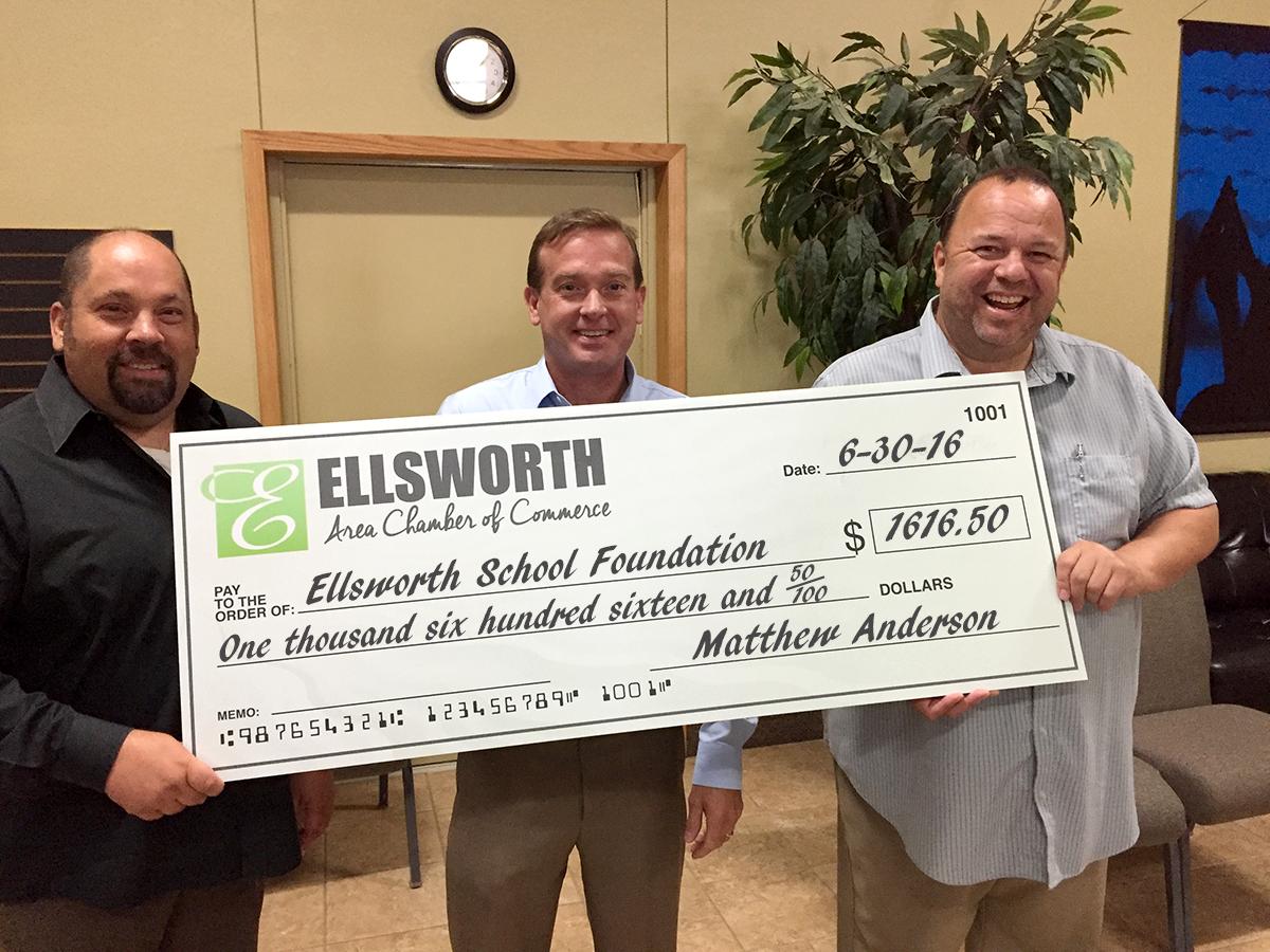 Big Check-Ellsworth School Foundation