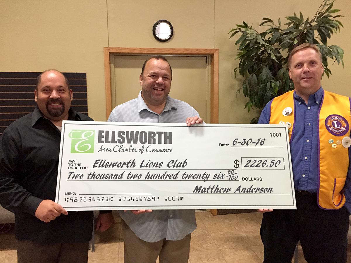Big Check-Ellsworth Lions Club
