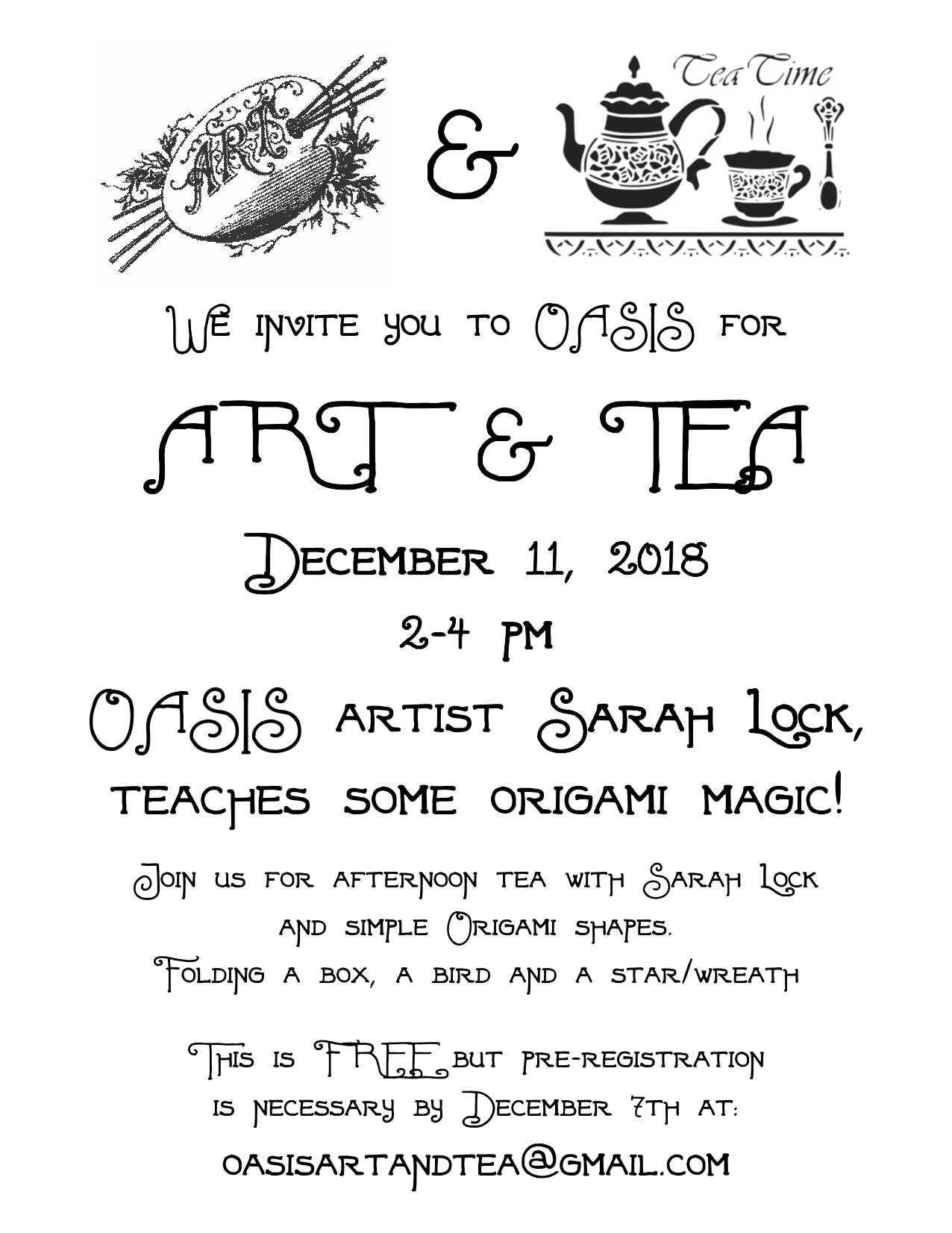 oasis art and tea invite dec 11 2018