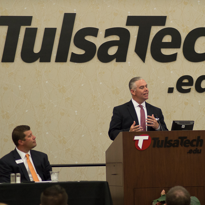 June Luncheon, Sean Kouplen, Tulsa Tech, Skip Mefford, RCB Bank