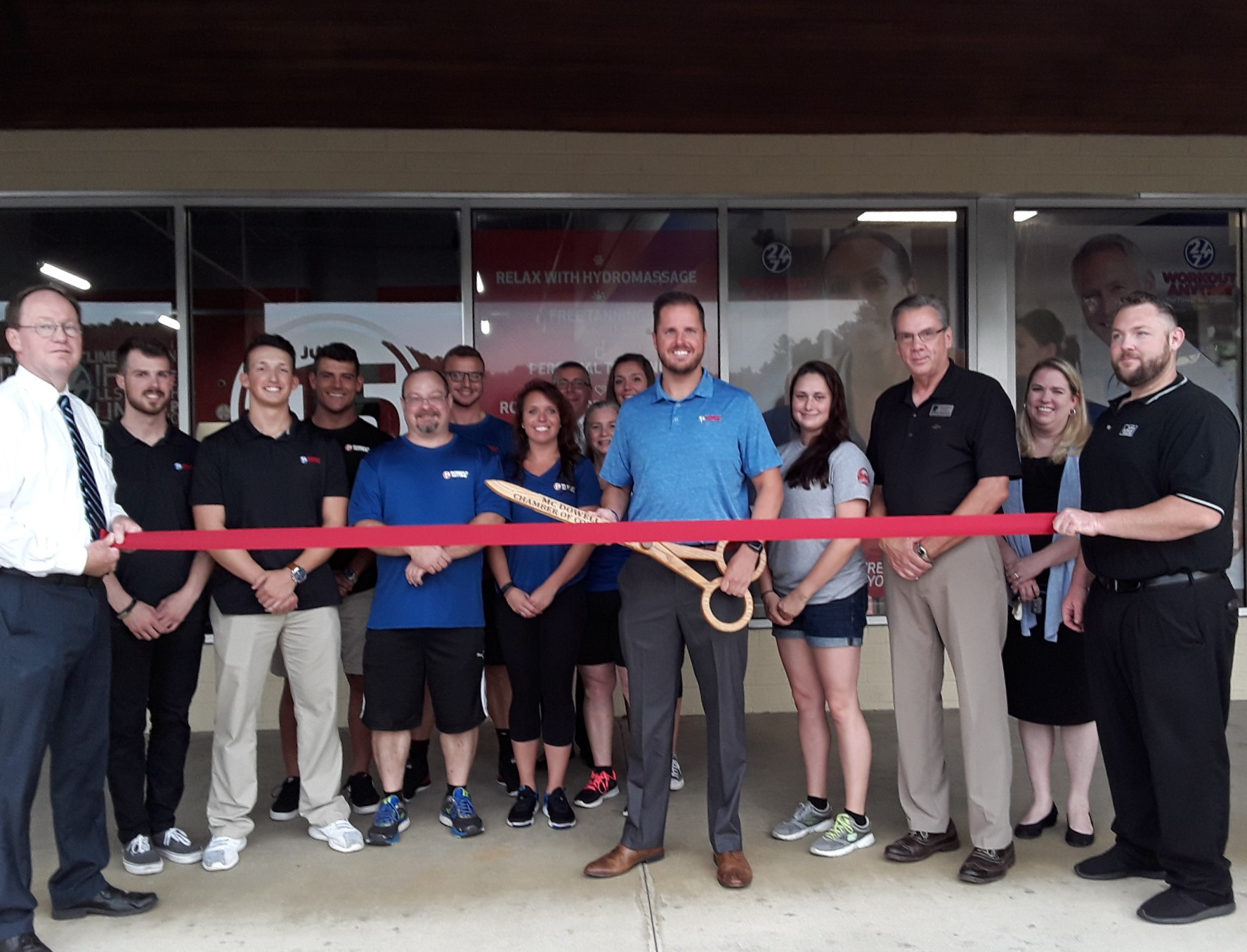 Workout Anytime of Marion - Ribbon Cutting - McDowell Chamber