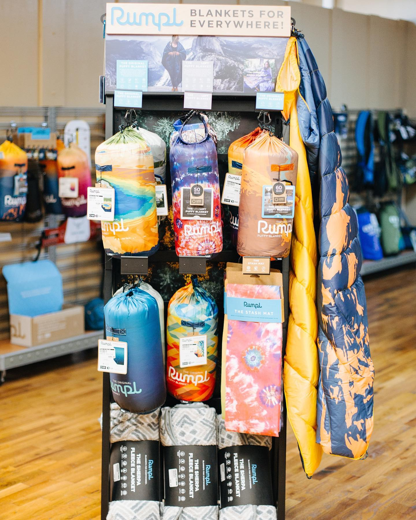Flavors on Main sells outdoor gear and equipment for hikers and fishermen.