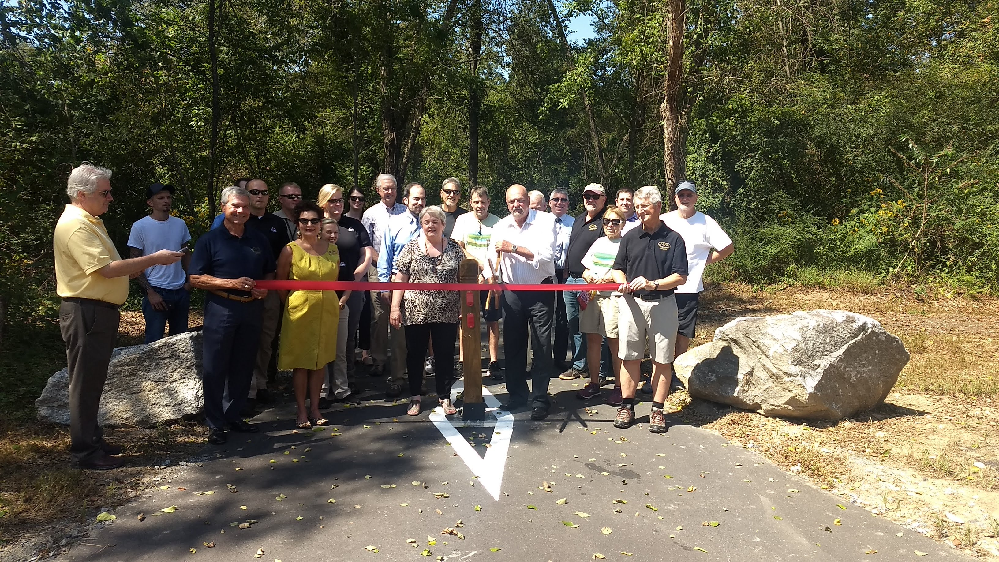 Ribbon Cutting for Phase III of the Greenlee Park/Fonta Flora State Trail System McDowell North Carolina