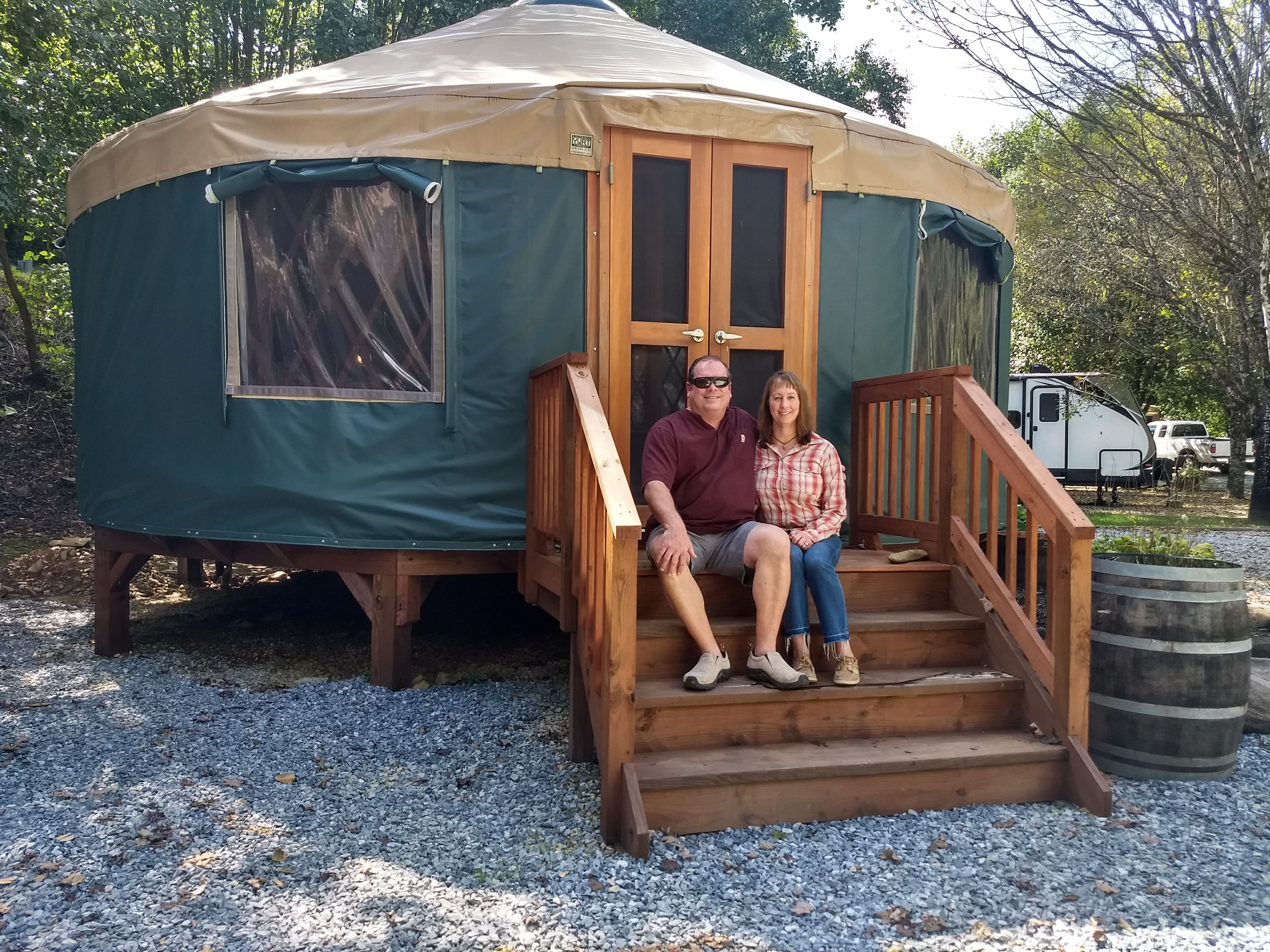 Mountain Stream RV Park Offers Yurts 2018 (Kevin and Gena Middleton)