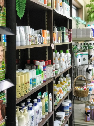 There are more than 1000 different products andd 100 different brands of holistic products.