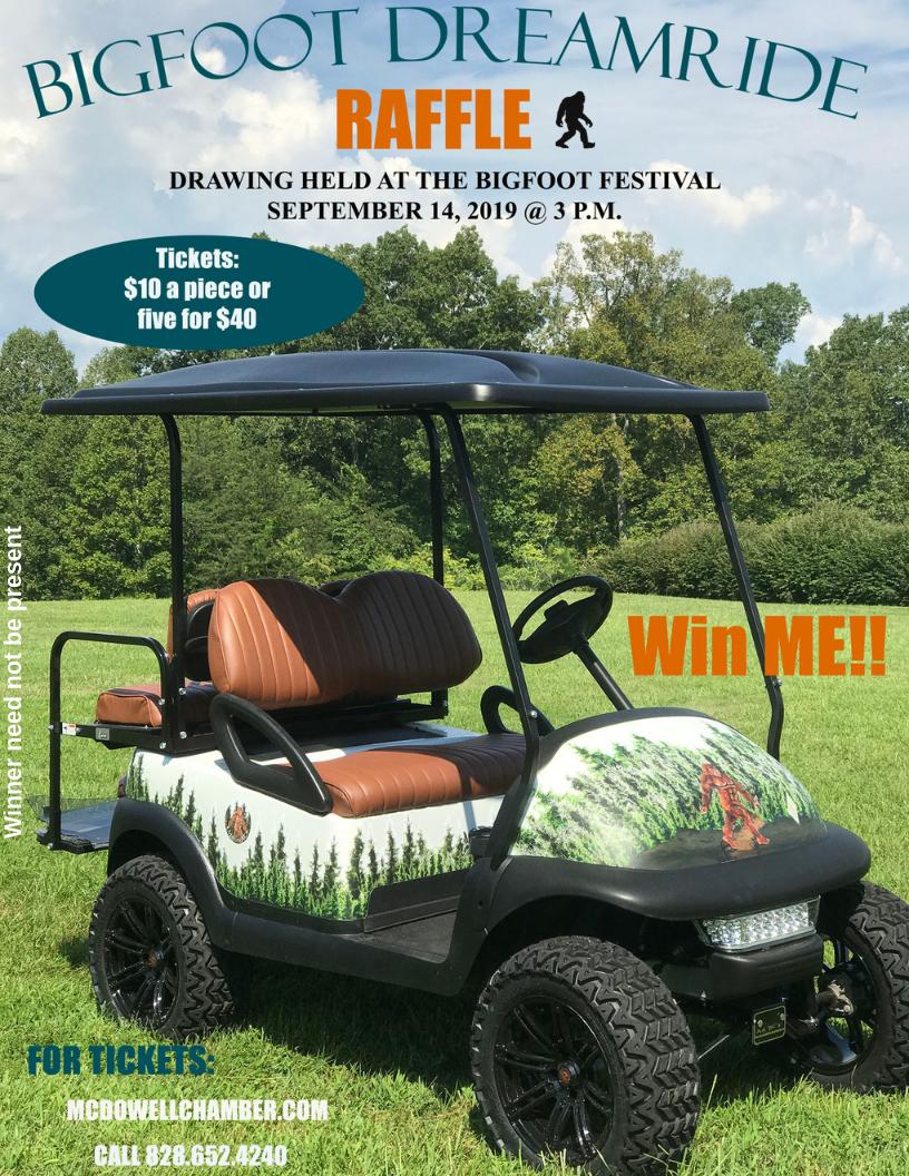 Bigfoot Golf Cart Raffle