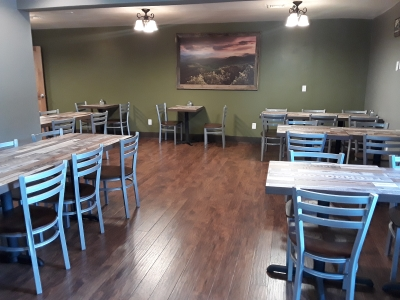 Boondock's offers separate dining area from the bar for great family gatherings.