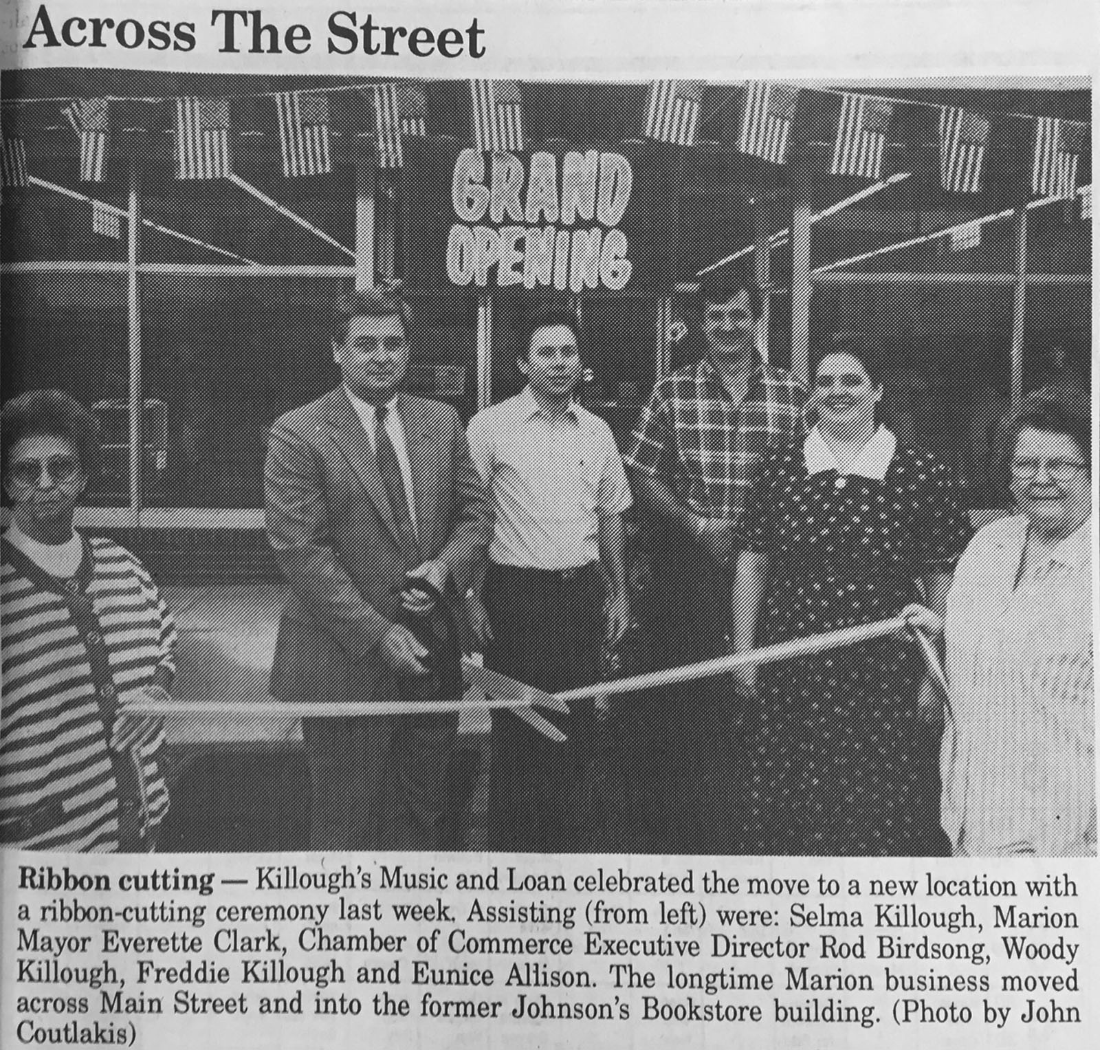 Grand Opening of Killough's Music and Loan in Marion, NC