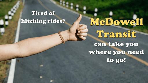 Visit https://mcdowell-transit.business.site/