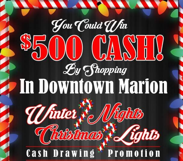 Downtown Marion Winter Nights--Christmas Lights