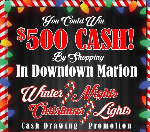 Downtown Marion Winter Nights--Christmas Lights