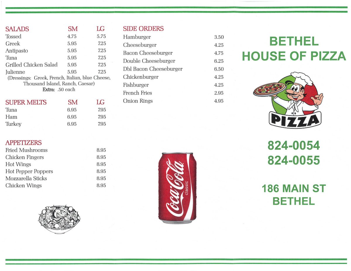 Bethel House of Pizza-Page 1