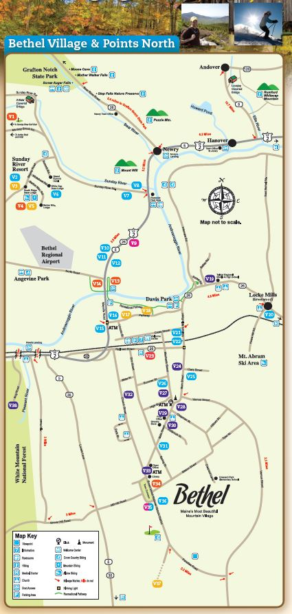 Area Map Bethel Area Chamber Of Commerce Me