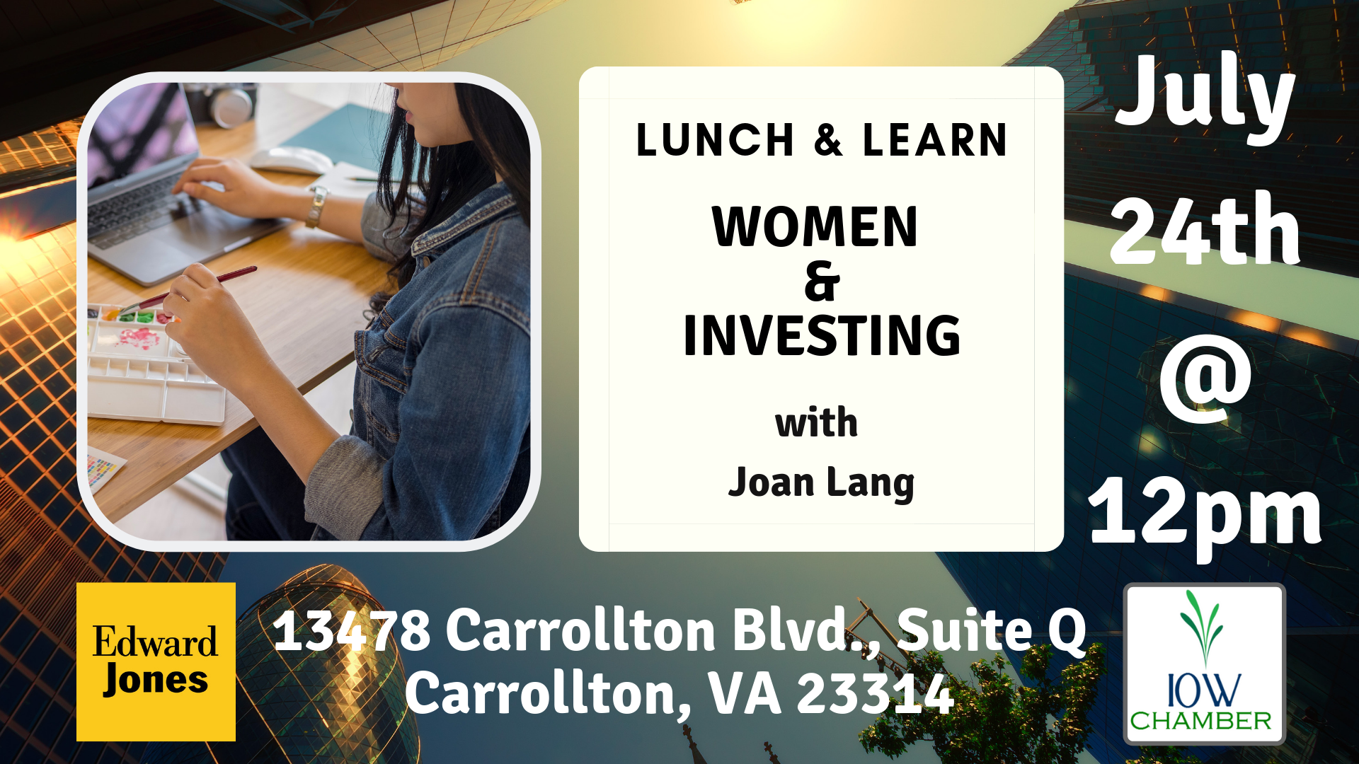 "Edward Jones - Keith Compton presents ""Women and Investing"""