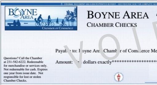 Chamber Checks - the perfect gift