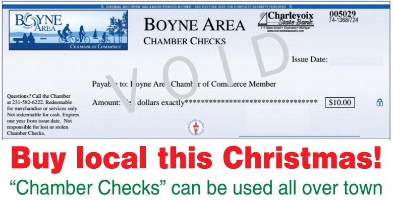 "Chamber Checks - the perfect ""buy local"" gift"