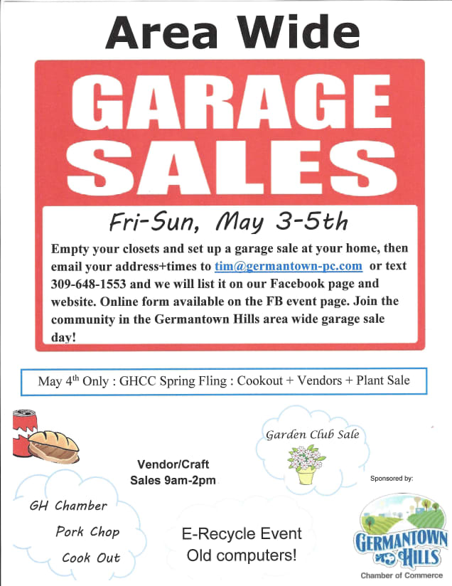 GHCC Community Garage Sales Event Page