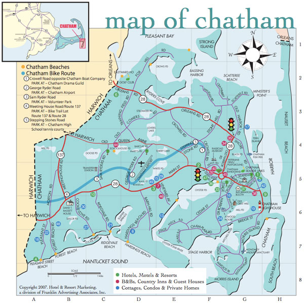 Chatham Ma Map Map of Chatham   Chatham Chamber of Commerce, MA
