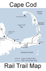 Cape Cod Rail Trail Map