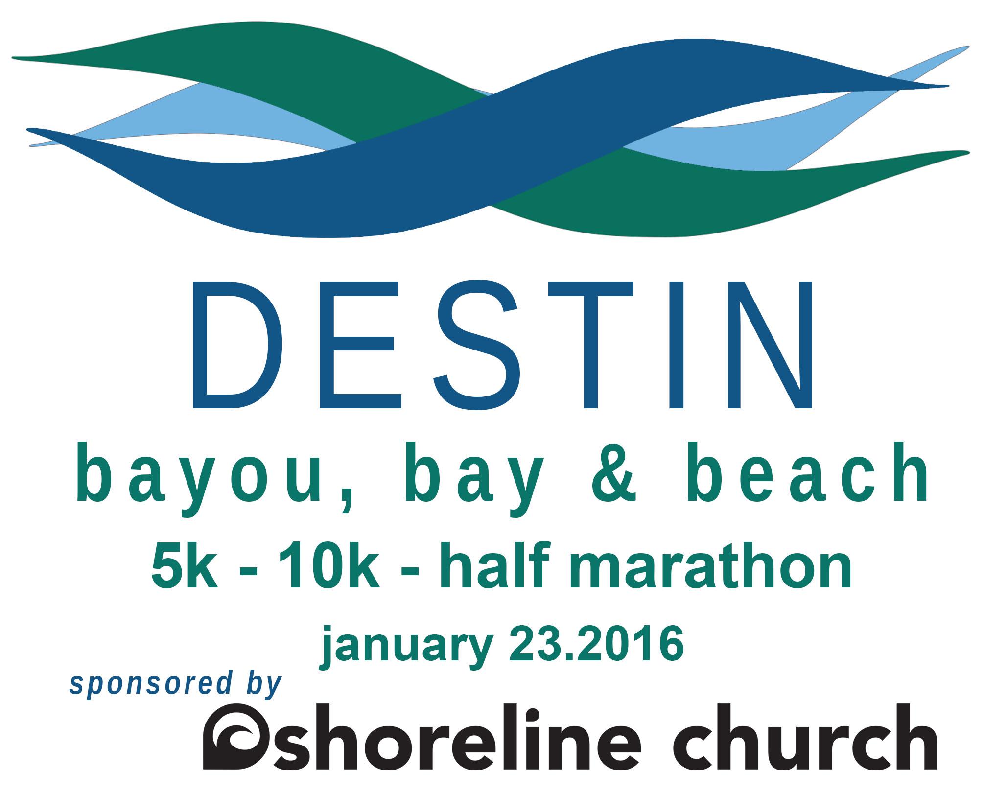 Destin's Bayou, Bay & Beach 5K, 10K & Half Marathon