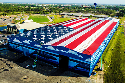 Legendary Marine - Wyland Whaling Wall - Largest Flag Mural